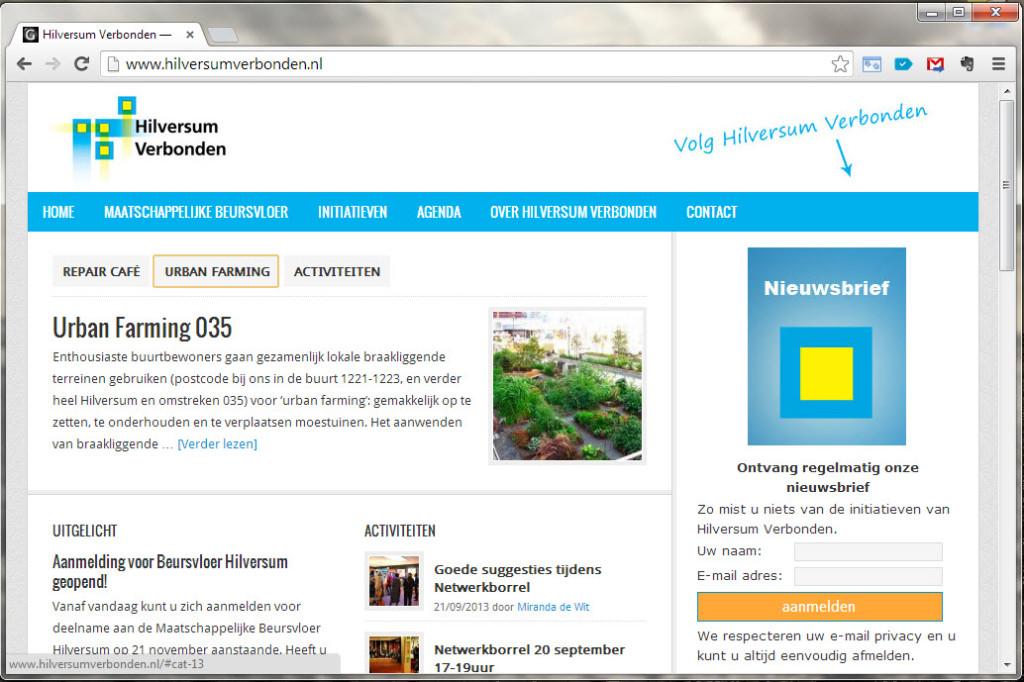 Wordpress website Hilversum Verbonden