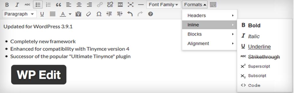 WordPress-plugin-wp-edit